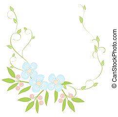 frame - vector floral heart wreath