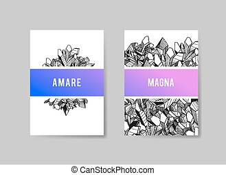 Set of Templates Brochures. Abstract Background. Vector for...