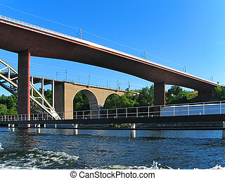 Railway bridges in Stockholm