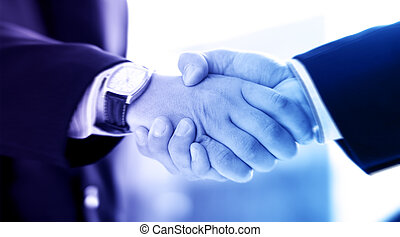 Handshake of two businessmen. Abstract business concept.