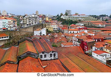 Clouds and rain in Vila Nova de Gai - Roofs wine cellars...