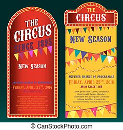 Circus Banners 02 B - Vector vintage circus backgrounds in...