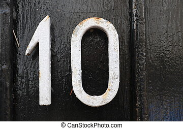 Number 10 - House number 10