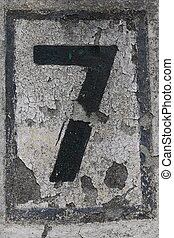 Number 7 - House number 7