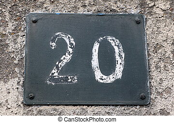 Number 20 - House number 20