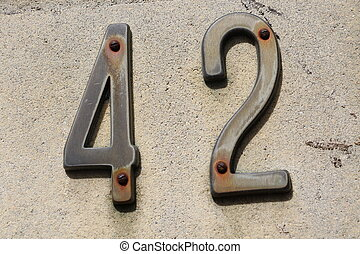 Number 42 - House number 42