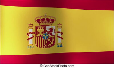 A beautiful satin finish looping flag animation of Spain. 4K...