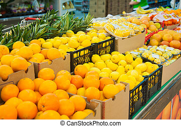 Fruits in the supermarket