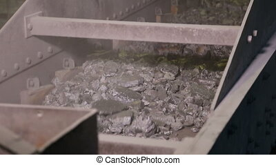 crushing and packing iron - crushing iron ingot and packing...