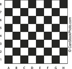 Chessboard with coordinates illustration, ready for the game...