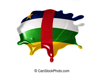 blot with national flag of central african republic