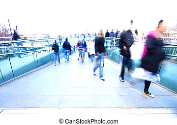 Abstract crowd of people