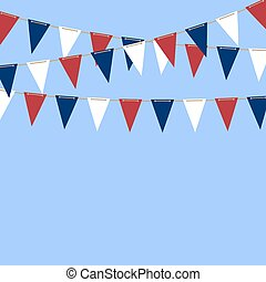 Bunting Flags vector background
