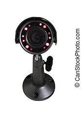 Security camera with luminous backlight
