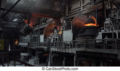 View of the working shop 5 - Stages of the steel plant for...
