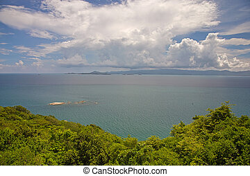 Sea view - Panoramic sea view Sunny day in tropical paradise...