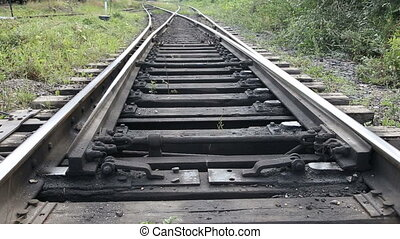 the mechanism of Railways - swapping the rails of the...