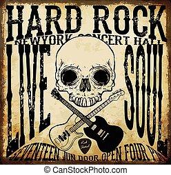 Hard rock Vector Acoustic Guitar Icon