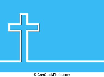 Cross icon illustration - White cross icon illustration...