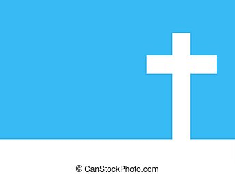 White cross icon illustration. Simple Christian cross sign....