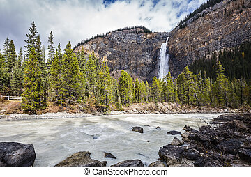 Autumn day in Yoho National Park in Canada