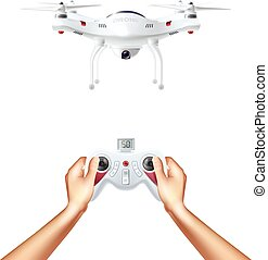 Unmanned Drone With Remote Controller - Unmanned drone with...