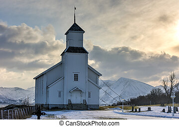 Gimsoy Church - Norway - Gimsoy Church in the Lofoten...