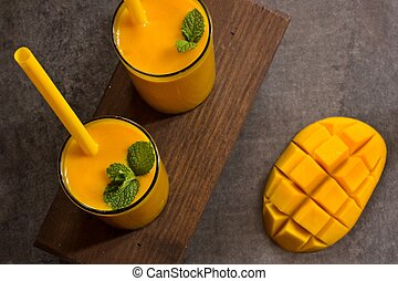 Mango Lassi Indian Mango Drink with Yogurt - Mango Lassi...