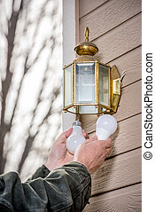 Replacing an incandescent light bulb with LED