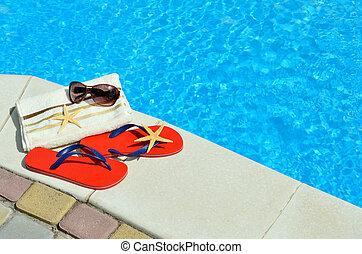 Cambia de dirección, gafas de sol, toalla, Estrellas de mar,...