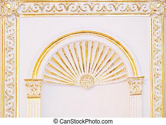 alto, detalhado, islamic, arte, arco, arquitetônico,...