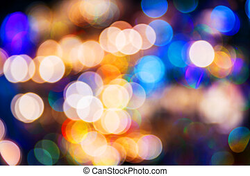 Blurred light bokeh - Colorful abstract defocused blurred...