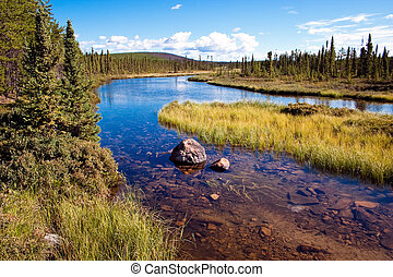 Northern Canadian River - Northern Canadian river and...