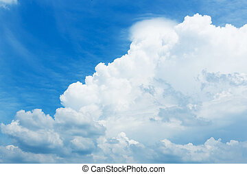 Blue sky and white cloud - Abstract blue sky with white...