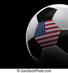 American soccer ball