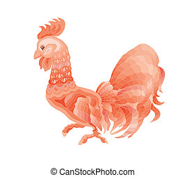 Illustration of a rooster - Vector  art  Illustrations.