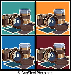 photo equipment - Stylized vector illustration on the theme...