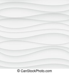 Seamless Wave Pattern. Curved Shapes Background. Regular...