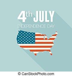 United States flag - Independence day background. United...