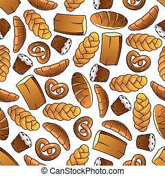 Bakery and pastry seamless pattern - Appetizing bakery and...