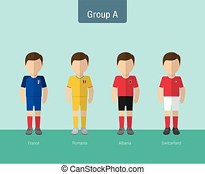 soccer uniform group A.