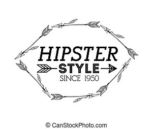 hipster style design - hipster style design, vector...