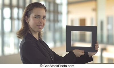 Holding frames for sales promotion customer service design logo