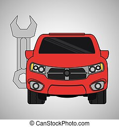 car repair design, vector illustration - car concept with...