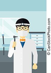 Ear nose throat doctor. - An asian doctor otolaryngologist...