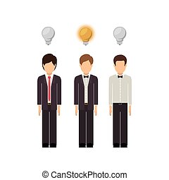 think people design, vector illustration eps10 graphic