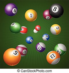 Billiard Balls Background. Vector