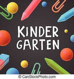 Kindergarten, preschool background