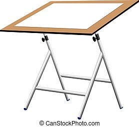 Compact drawing board with paper
