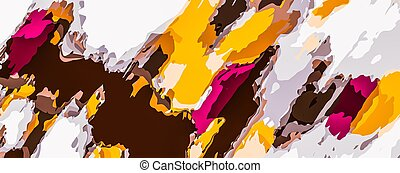 yellow brown pink painting abstract